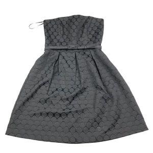 White House Black Market Strapless Belted Dress